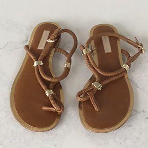 Michael Kors braided leather sandal, size 40